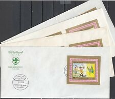 * Yemen Arab, Mi cat. 367-370, C56-58. Scouting Deluxe s/shts. First day covers.