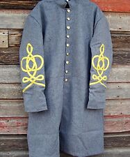 civil war confederate frock coat with 4 row braids  46