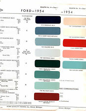 1954 FORD MAINLINE FAIRLANE CROWN VICTORIA SUNLINER 54 PAINT CHIPS ACME