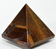 "2.5"" Natural GOLDEN / RED TIGER's EYE Pyramid Hawk's Eye Crystal Quartz - Africa"