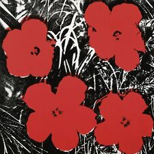 Flowers, c.1964 (4 red) by Andy Warhol Floral Flower Pop Art Print Poster 11x14