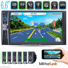 "Double 2Din 6.6"" Car Stereo MP3 MP5 Player HD In Dash Bluetooth Ipod TV Radio FM"