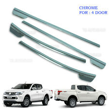 Fit Mitsubishi L200 Triton 2015 2016 2017 Chrome 4Dr Line Window Sill Cover Trim