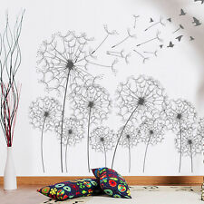 Flying Bird Dandelion Easily Removable Art Wall Sticker Decal Art decoration
