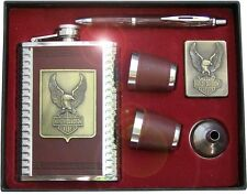 Harley-Davidson ® motocycles Hip flask ROAD KING, Gift, pen, lighter, RARE