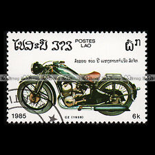 ★ CZ 500 1938 ★ LAO LAOS Timbre Moto / Classic Motorcycle Stamp #223