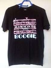 """Pequeño Gráfico Negro T-Shirt, los Jacksons """"culpa en el boogie"""" Diseño -! nuevo!"""