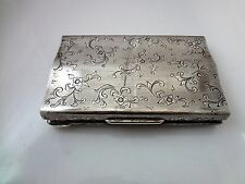 Unique Vintage Sterling Women's Metal Makeup Clutch