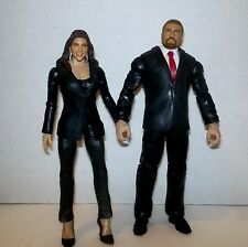 WWE Stephanie McMahon and Triple H in Suit Action Figure The Authority NEW LOOSE