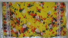 "TAPESTRY/SHAW/SCARF DOMINICANA REPUBLICA FISH ORANGE YELLOW & GREEN ""60 X 41"""