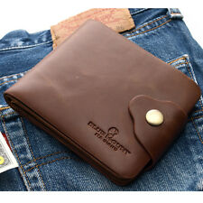 Men's Clutch Wallet 15 Card Slots Zippered Pocket Synthetic Leather Purse-MJ2132