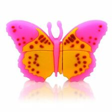 Pink Butterfly Novelty Animal Shape 16Gb USB Flash Drive Memory Stick Girls Gift
