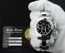 ROLEX - REHAUT DAYTONA Stainless Steel Black Index Dial - 116520 - SANT BLANC