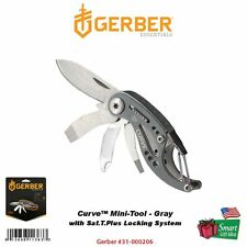 Gerber Curve Mini-Tool, Gray, Keychain Stainless Steel, Knife #31-000206