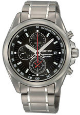SNDC93P1 NEW Seiko Gents Titanium Chronograph Bracelet Watch