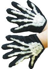 Skelett Handschuhe mit Knochen für Kinder NEU - Zubehör Accessoire Karneval Fasc