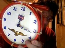 Early 1960s Confederate Drum Wall Clock in good working order