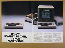 1984 Commodore 64 Computer keyboard monitor drive modem photo vintage print Ad