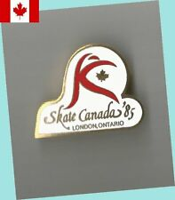 1985 London Ontario Skate Canada Grand Prix Skating Lapel Pin MINT - SCARCE