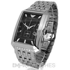 *NEW* MENS EMPORIO ARMANI CHRONOGRAPH STEEL WATCH - AR0474 - RRP £299.00
