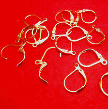 20PCS Lever Back Earring Findings 18K GOLD Plated Loo 0083 French Ear Clip SALE