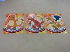 1999 Topps Pokemon (evolution) = #04 Charmander,  #05 Charmeleon,  #06 Charizard