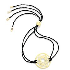 Daisy Jewellery NEW! Black Cord Gold Plated Sacral Chakra Adjustable Bracelet