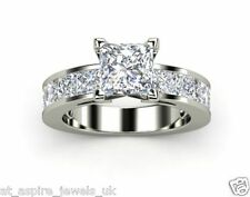 1.98CT PRINCESS CUT DIAMOND SOLITAIRE LADIES ENGAGEMENT RING IN STERLING SILVER