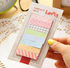 160 Pages Adorable Beautiful Sticky Note Bookmark Memo Notes Writting Pads Hot