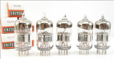 Qty 5, United 6DJ8 Tubes, New Old Stock, England