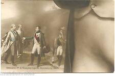 CARTE CONSTITUTIVE D'UN PUZZLE.NAPOLEON 1er et François II après Austerlitz.1805