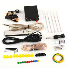 Complete Tattoo Kit Set Equipment Machine Needles Power Supply Gun Inks E3