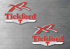 Tickford XR 6 piece decal sticker Kit 7 yr water & fade proof vinyl badge