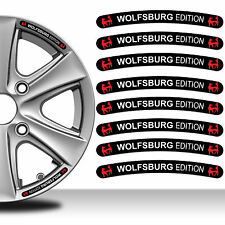8 Wolfsburg Edition VW Rim Stickers Wheel Stripes Emblem Car Auto Tuning C124