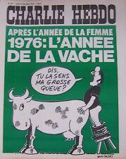 CHARLIE HEBDO No 267 DECEMBRE 1975 WOLINSKI 1976 L ANNEE DE LA VACHE