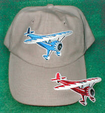 Hat With MONOCOUPE Airplane Embroidered Emblem on a Low Profile Khajki Hat R/C