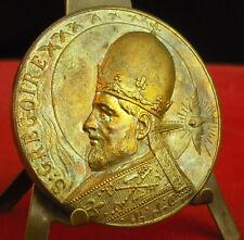 * Rare médaille Uniface 50 mm Saint Grégoire vers 1920  par  A J Corbierre Medal