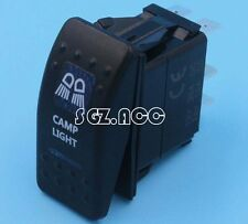 CARLING STYLE CAMP LIGHT ROCKER SWITCH BLUE LED 4X4 4WD 12 Volt ON/OFF SWITCH