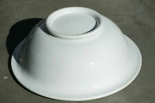 """Antique Meakin Brothers White English Ironstone 13"""" Wash Basin 1851-1859"""