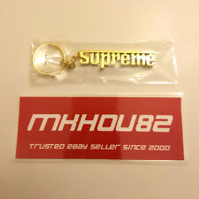New Supreme Grand Prix Gold Keychain Ferrari Lettering Fall Winter 2016 FW16