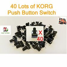 40 Lots of KORG Push Button X3  X5 N364 N264 TRINITY 01W T1 T2 M1 M1R 01/W UK
