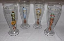 "(Set of 4) 9"" Tall TOMMY BAHAMA BEER Goblets Glasses"