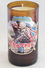 IRON MAIDEN TROOPER BEER / ALE CANDLE - 100% RECYCLED! - UNIQUE GIFT