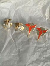 Star Trek Cufflinks Klingon and Delta thats 2 Pairs