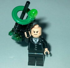 SUPER HERO #18 Lego Lex Luther w/Kryptonite Deconstructor Gun 6862 30164 Genuine