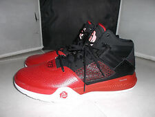 ADIDAS DERRICK ROSE MENS BASKETBALL ATHLETIC SHOES SIZE 16  BLACK/RED S85442