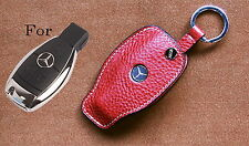 Handmade Luxury Italy Leather Smart Remote car Key case For Mercedes Benz Fob