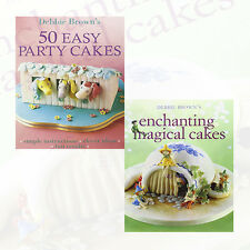 Magical Cakes Collection 2 Books Set by Debbie Brown(50 Easy Party Cakes)