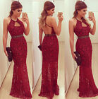 Sexy Backless Long dress Women Lace Evening Dresses Party Cocktail ball gown