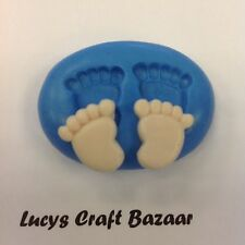 Silicone Mould Baby Feet Cupcake Pop Card Topper Flower paste Fimo Sugarcraft